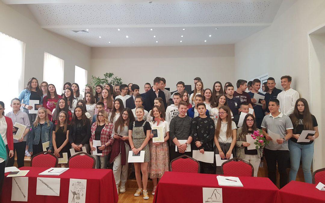 Svečana dodela svedočanstava za Osnovnu muzičku školu