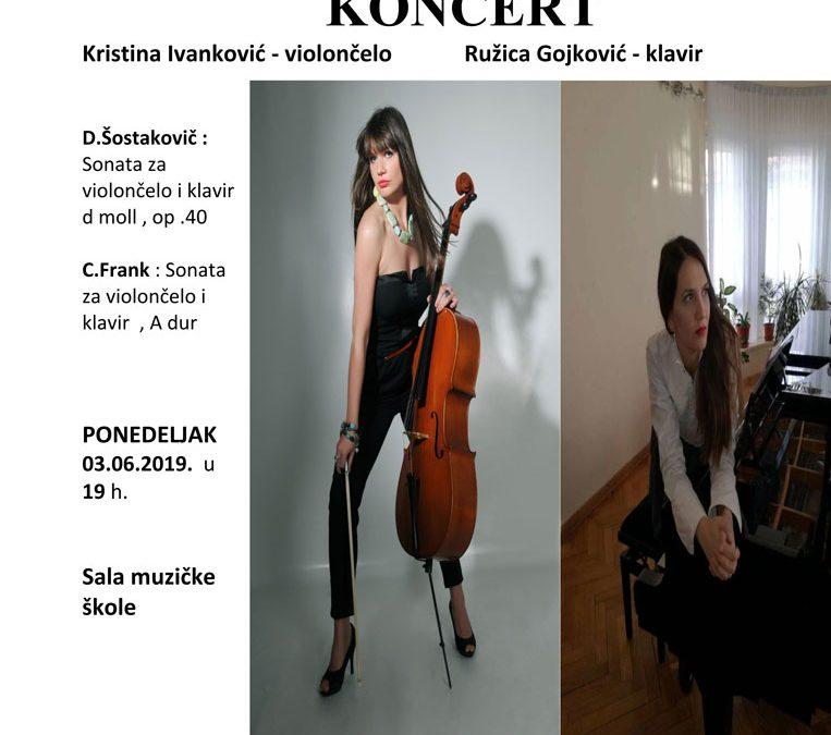 Koncert Kristine Ivanković i Ružice Gojković